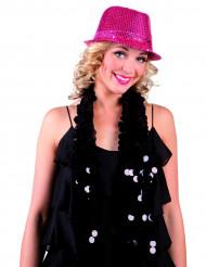 Roze lovertjes hoed voor volwassenen