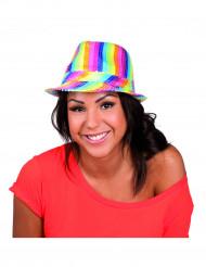 Veelkleurige glitterhoed voor volwassenen