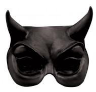 Zwarte Duivel halfmasker voor volwassen