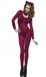 Roze luipaardkostuum voor volwassenen