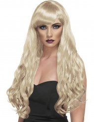 Blonde lange gekrulde pruik voor dames