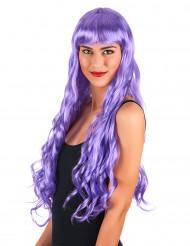 Golvende lange paarse pruik voor vrouwen