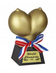 Trofee in de vorm van gouden borsten