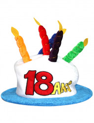 Verjaardagshoed voor volwassenen leeftijd 18