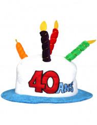 Verjaardagshoed voor volwassenen leeftijd 40