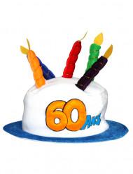 Verjaardagshoed voor volwassenen leeftijd 60
