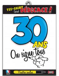 30 jaar t-shirt voor volwassenen