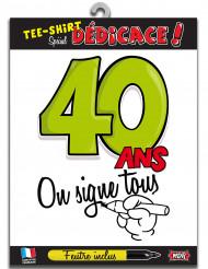 40 jaar t-shirt voor volwassenen