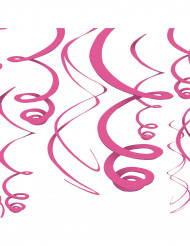 Set van roze versieringen