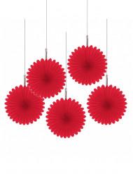 Rode hangdecoratie - Rozet