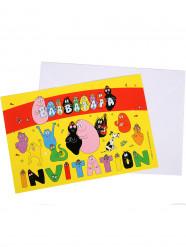 6 Barbapapa™ uitnodigingen