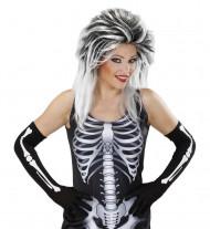 Lange skelethandschoenen voor volwassenen