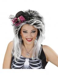 Mini-hoed met schedel voor Halloween
