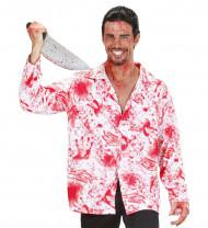 Kostuum van een bebloed hemd voor volwassenen