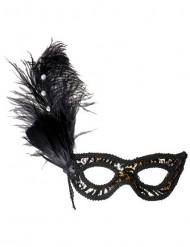 Halfmasker met luipaardmotief voor volwassenen