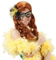 Zwart en goudkleurig halfmasker voor volwassenen