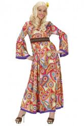 Lang hippiekostuum voor vrouwen