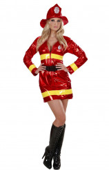 Rood brandweer kostuum voor vrouwen