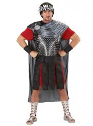 Zwart en zilverkleurig Romeinse keizer kostuum voor heren