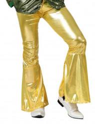 Goudkleurige discobroek voor mannen