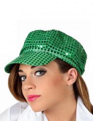 Groene discopet voor volwassenen