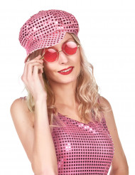 Roze discopet voor volwassenen