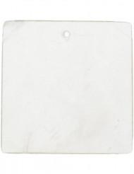6 vierkant naamboordjes wit