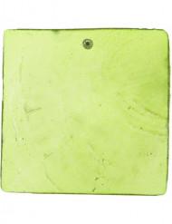 6 vierkant naambordjes groen