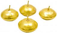 4 goudkleurige drijvende kaarsen