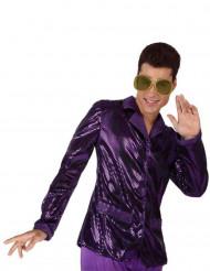 Glanzende paarse discovest voor mannen