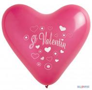 8 Valentijnsdag harten ballonnen