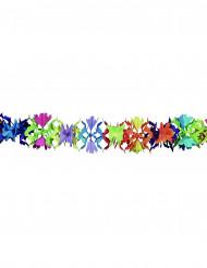 Veelkleurige papieren slinger met bloemenmotief