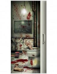 Bloederige wc deurdecoratie