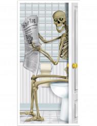 Skelet op de wc deurdecoratie