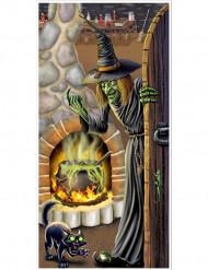 Heksenhuis deurdecoratie