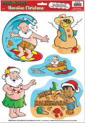 Kerst Hawaii stickers