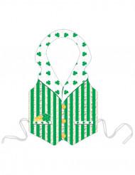 Groene plastic Leprechaun schort voor Saint-Patrick