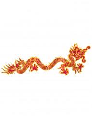 Rode en gele draak muurversiering
