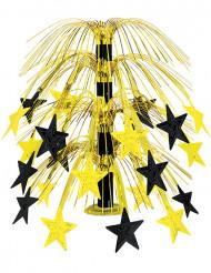 Tafeldecoratie zwarte en gouden sterren