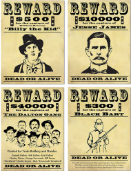 Amerikaanse wanted posters