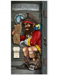 Deurversiering piraat op WC