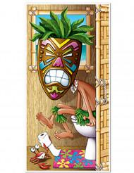 Hawaiiaanse wc deur decoratie