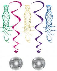 Ophang versieringen spiraal met discobal en draaikolk