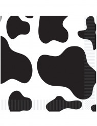 16 papieren servetten koeienhuid 33 x 33 cm