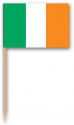 Cocktailprikkers met vlag van Ierland