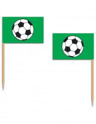 Voetbal prik prik vlaggetjes