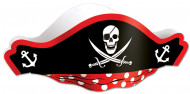 Kartonnen piraten hoed