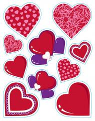 Hartjes stickers Valentijnsdag