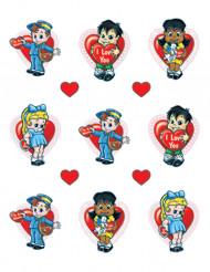 Valentijnsstickers met kinderen