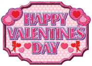 Roze banner Happy Valentines Day